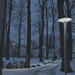 写真:駐車場の照明
