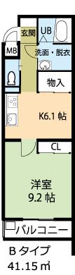 301号室の間取り図